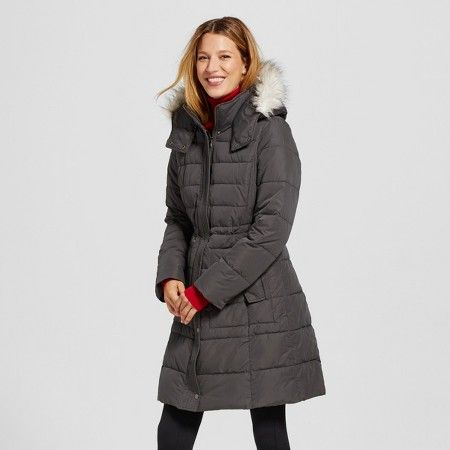 Looking for the perfect puffer? It's the Women's Puffer Coat with Faux Fur Trim by Merona. This plus size coat has a simple and sophisticated cut but is cute and casual for comfy everyday wear.