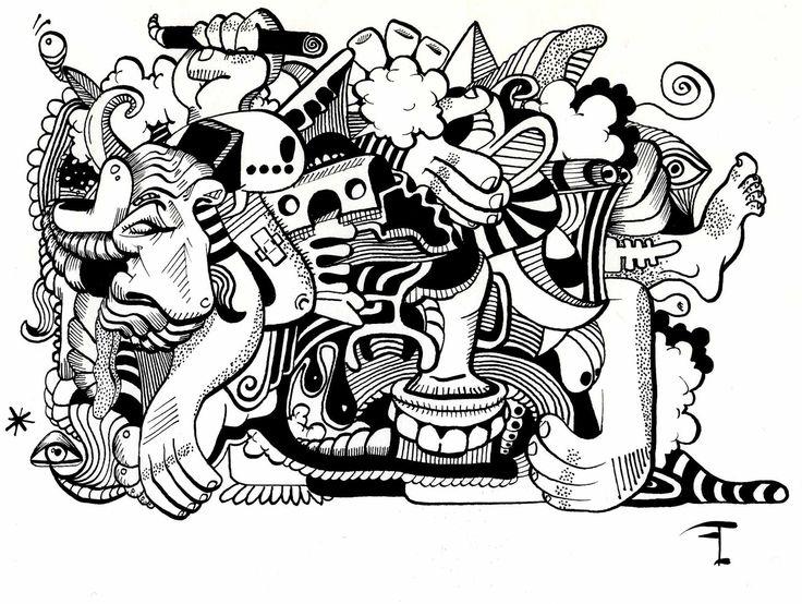 Oeuvre originale - Titre du dessin : L'EXCLAMATION
