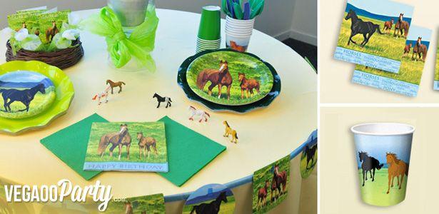 Decorazioni Cavalli selvaggi per compleanni con VegaooParty