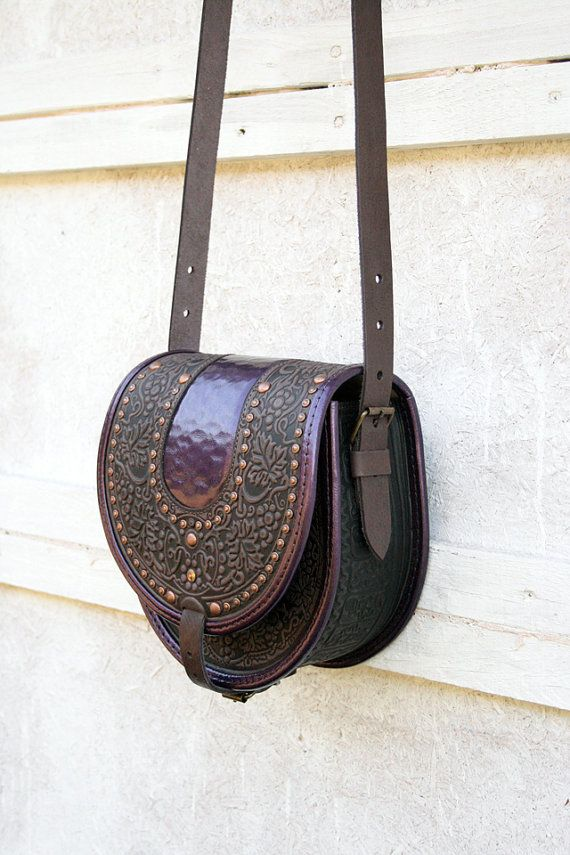 Hey, I found this really awesome Etsy listing at https://www.etsy.com/listing/239247561/purple-violet-brown-gray-leather-bag