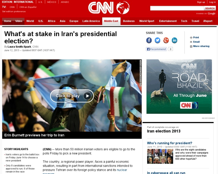 http://edition.cnn.com/2013/06/12/world/meast/iran-election-explainer/index.html?hpt=hp_c1 Is Iran's election result 'pre-set?' | #Indiegogo #fundraising http://igg.me/at/tn5/