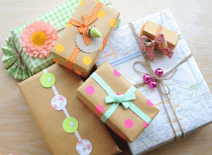 idées comment emballer un cadeau