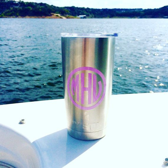 http://www.cadecga.com/category/Yeti-Cup/ Monogrammed Yeti Cup  Rambler 20oz by PrettyLettersShop on Etsy