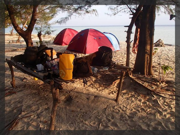 From bihand of camp at Karimunjawa islands
