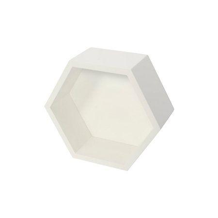 Form White Hexagon Shelf (L)271mm (D)271mm | Rooms | DIY at B&Q