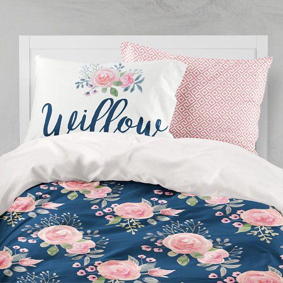 floral duvet cover twin bedding set