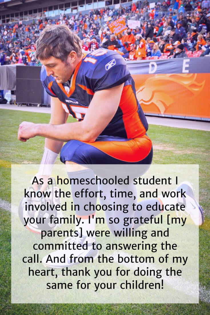 Tim Tebow Publishes New Book Specifically for Homeschool Families