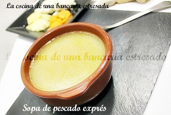 SOPA DE PESCADO EXPRÉS CON ZANAHORIA, PATATA Y PESCADO AL VAPOR. UN TODO INCLUIDO. ~ COCINA DE UNA BANCARIA ESTRESADA