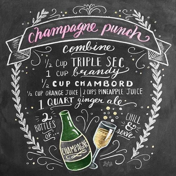 Easy + delicious champagne punch recipe : theBERRY
