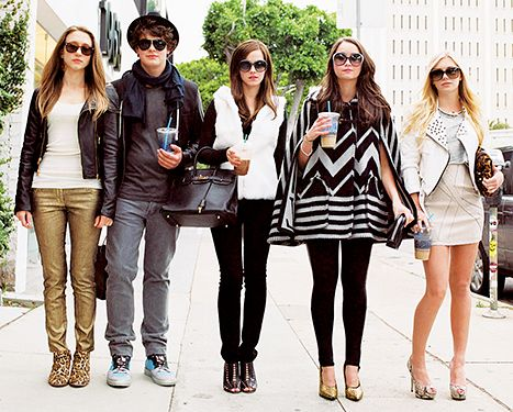 Taissa Farmiga, Israel Broussard, Emma Watson, Katie Chang and Claire Julien in The Bling Ring.