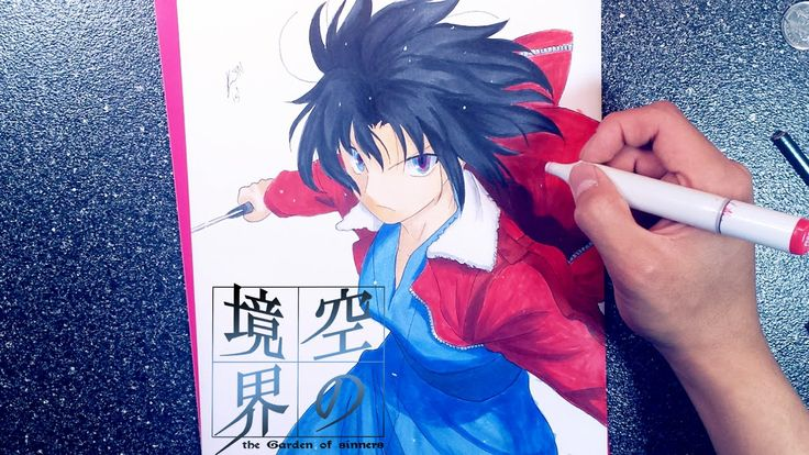 Drawing Ryougi Shiki from Kara no Kyoukai (Garden of Sinners)