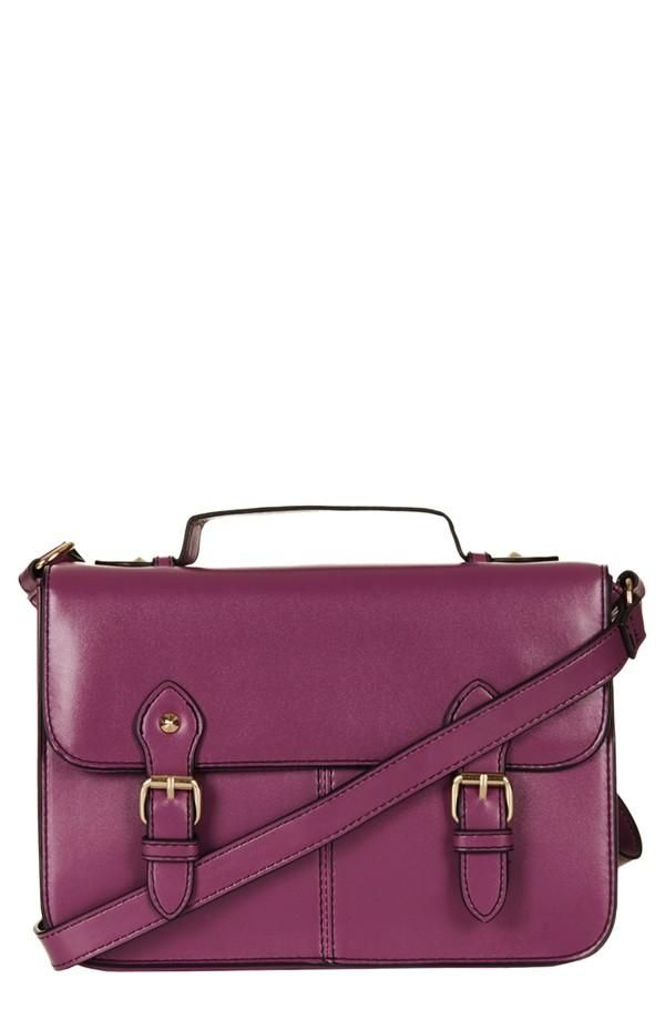 Topshop Faux Leather Satchel #radiant orchid – selected by http://munich-and-beyond.com/