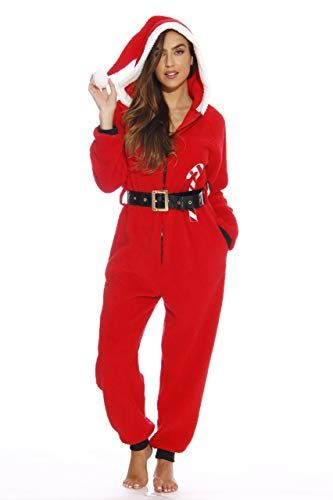 followme Adult Christmas Onesie for Women Sherpa One-Piece Pajamas   Clothing c700a3fd2