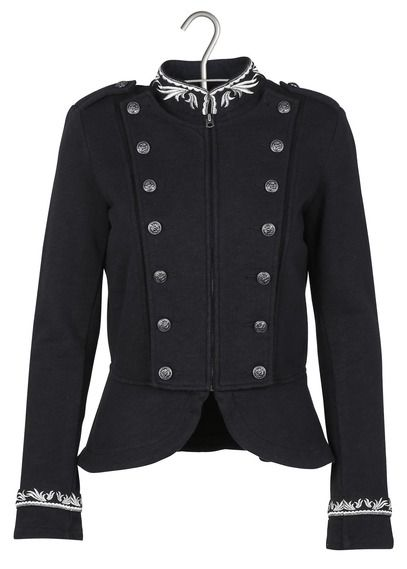 Veste officier en coton Noir by DENIM AND SUPPLY BY RALPH LAUREN