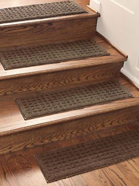 Chocolate Brown Vista Stair Treads (set Of 4) Non Slip Carpeted Stair Treads