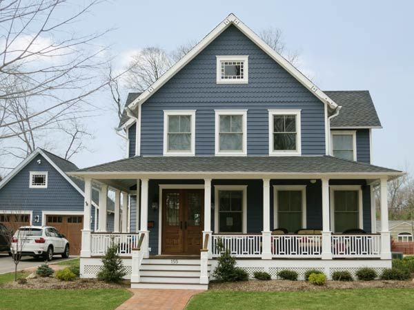 Exterior Paint Colors Blue best 10+ blue house exteriors ideas on pinterest | blue houses