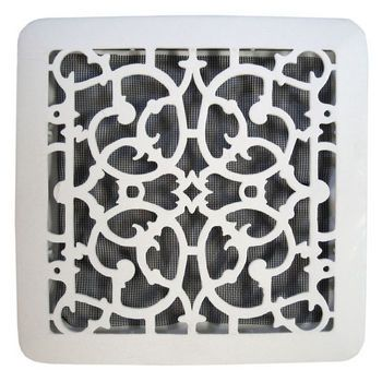 Decorative bathroom vent covers for 60 90 90 120 cfm for Bathroom exhaust fan cover