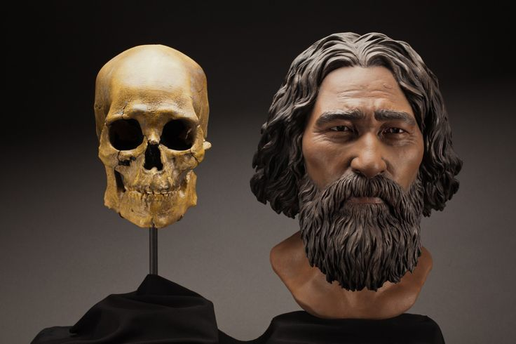 Facial reconstruction of Kennewick Man  What he may have looked like nearly 9,000 years ago. (Photo by Brittney Tatchell/Smithsonian Institute )