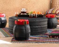 Image result for recycled tire furniture