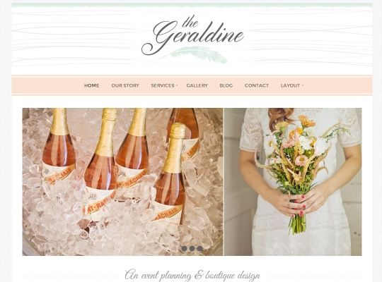 Geraldine - features pink champagne color scheme and would work well for wedding planners
