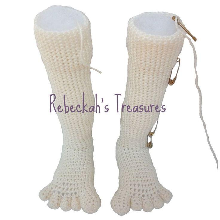 WIP Crochet Amigurumi Dolly by Rebeckah's Treasures ~ Legs