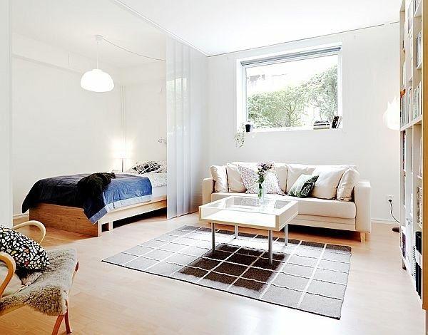 Wohn Und Schlafzimmer In Einem Raum Ideen Einzimmerwohnung