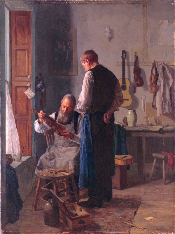 The Violin Shop - Louis Moeller   Paintings: Men & Women ...
