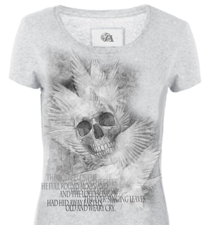 #Teschio e ali, questa è una delle magliette che non vennero mai stampate. * #Skull and #wings, this is one of the #T-shirts that were never printed.