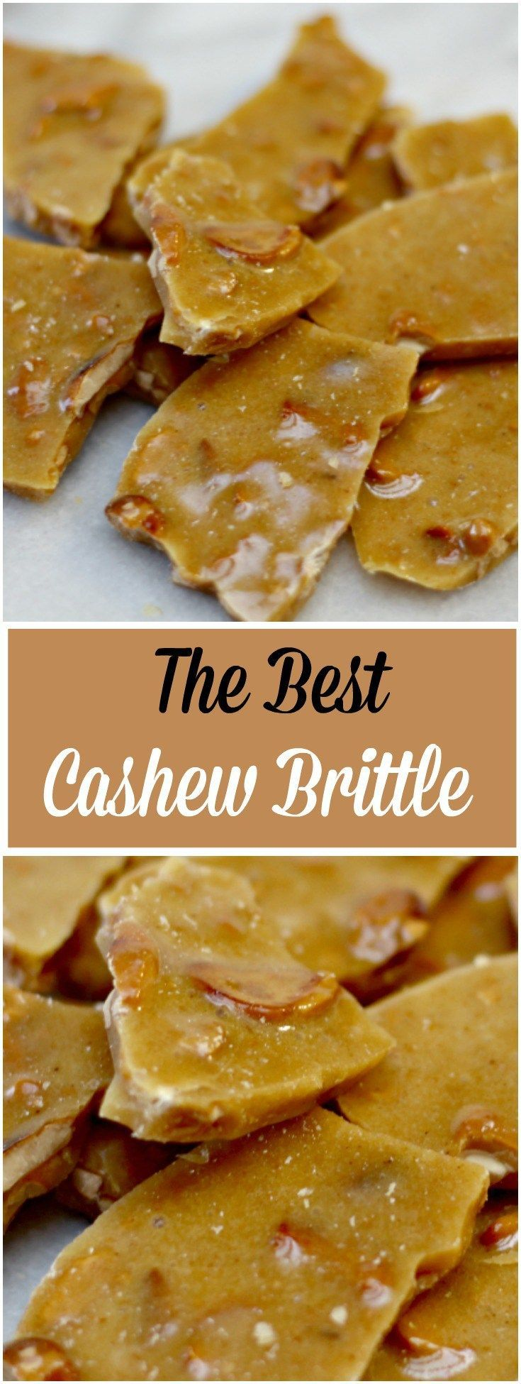 This is the Best Cashew Brittle Recipe I've made. I took my mother's famous peanut brittle recipe and switched it up a little. Yum!