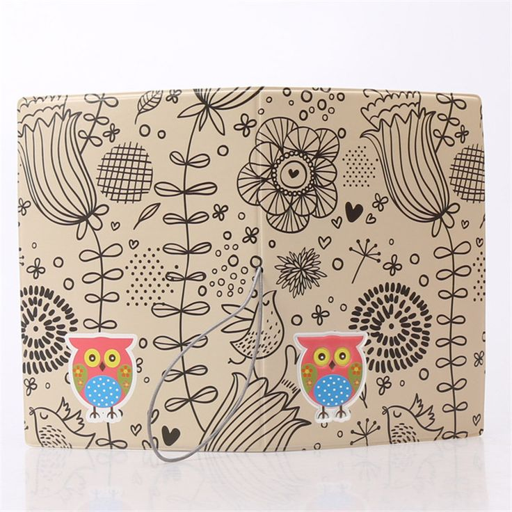 Night Owl Flower Style 3D Design Fashion Passport holder Cover ID package Travel Accessories Ticket Protective Case Gift
