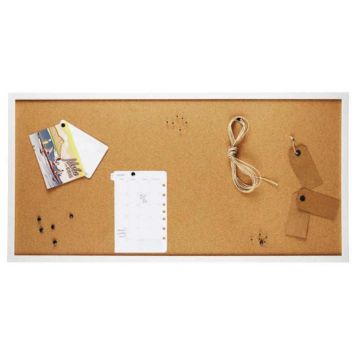 White Wooden Framed Cork Board