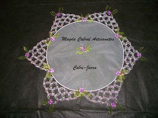 Magda Cabral Artesanatos: Cobre-Jarra  -  A beleza em sua mesa!!!!  ---------  cover jars and cups