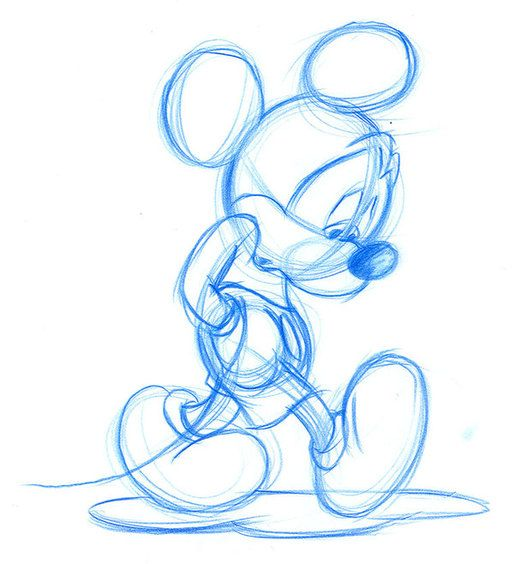 Walt Disney drawings on Behance - I like how sketches communicate design development and process