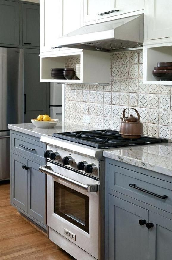 43 What Needs To Be Done About Grey Lower Cabinets White Upper Counter Tops Blue Gray Kitchen Cabinets Kitchen Cabinet Design Kitchen Cabinets Grey And White