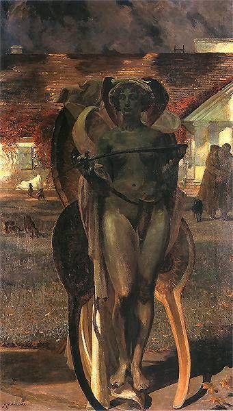 , Jacek Malczewski - Thanatos II, 1898, god of non-violent death in Greek Mythology