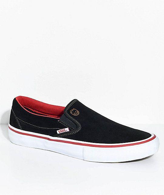 Vans X Spitfire Slip On Pro Black Suede Skate Shoes Suede Skate Shoes Skate Shoes Shoes
