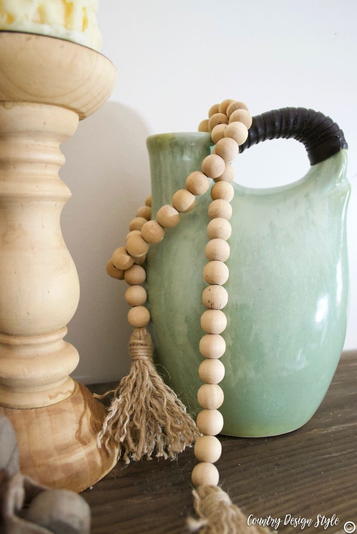 How To Make A Rustic Wood Beaded Garland Crafting And Sewing