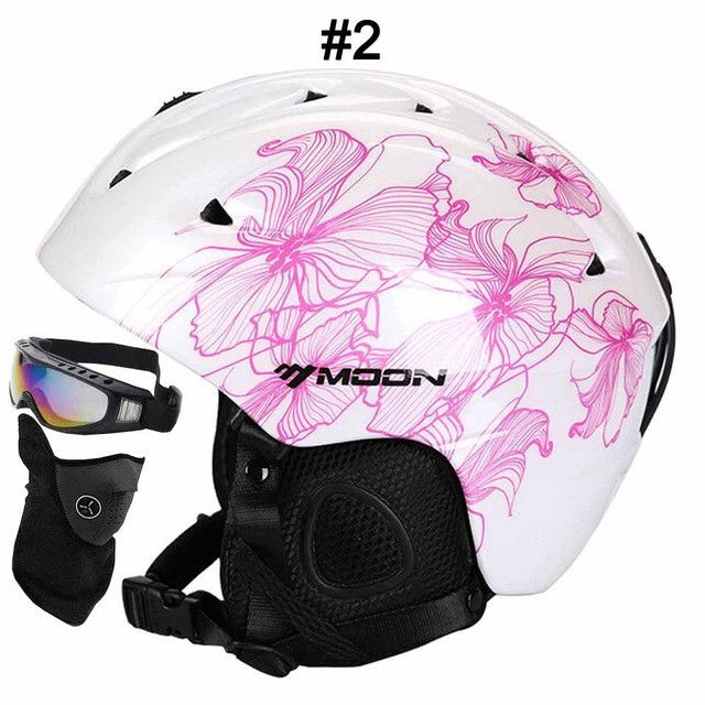 MOON Skiing Helmet Autumn Winter Adult and Children Snowboard Skateboard Skiing Equipment Snow Sports Safty Ski Helmets