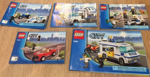 Lego City Police 7279 3648 7286 7285 Lot 4 100 Complete Sets W