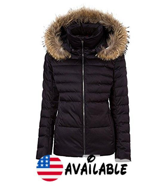 B0741TPQ34 : Fera Julia Parka with Real Fur Womens. 10K/10K Waterproof breathable Satin Poly 2-way stretch (Black Sapphire) or Fluidity mechanical stretch shell fabric (White Cloud) or 10k/10k Polyester Metallic Satin (Silver Rose Gold)  DWR finish. Primaloft Down insulation in body polyfill in hood and side panels. Integrated powder skirt Removable hood with detachable raccoon fur trim. Lycra inner cuffs with thumbholes Easy-glide YKK Metaluxe zippers. Zip hand and