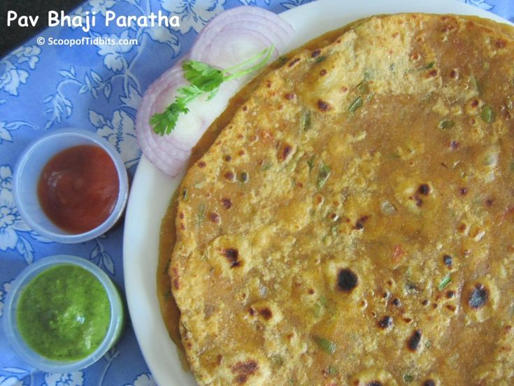 Pav Bhaji Paratha is a delicious paratha that can be made whenever you have leftover bhaji after making pav bhaji. This is an easy paratha and does not inv