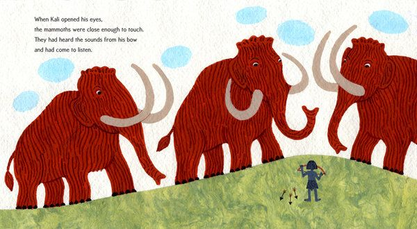 Spread from KALI'S SONG, a sweet new picture book about ending violence and promoting peace