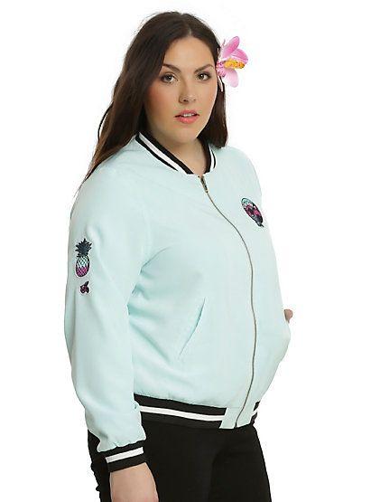 Disney Lilo & Stitch Patched Girls Bomber Jacket Plus SizeDisney Lilo & Stitch Patched Girls Bomber Jacket Plus Size,