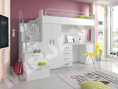 die besten 25 hochbett mit schreibtisch ideen auf pinterest 1 zimmer wohnung einrichtung. Black Bedroom Furniture Sets. Home Design Ideas