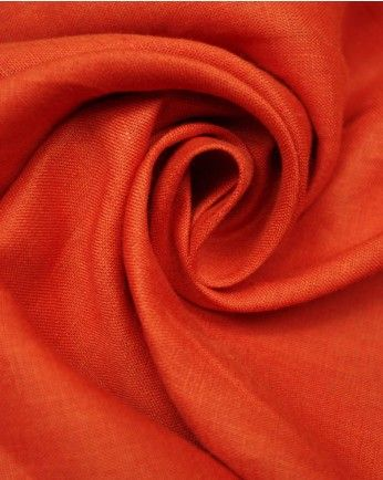 Pure Linen Fabric | Tomato Red | Truro Fabrics