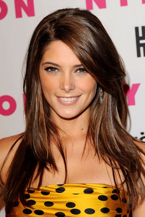 Want this hair color and cut (keeping my length) with some honey highlights! Ooh yay :) obsessed!