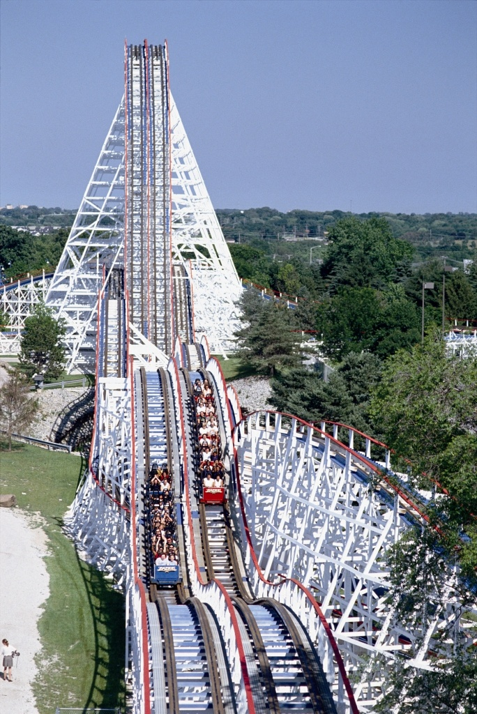 The original wooden roller coaster and my favorite - The American Eagle at Six Flags Great America