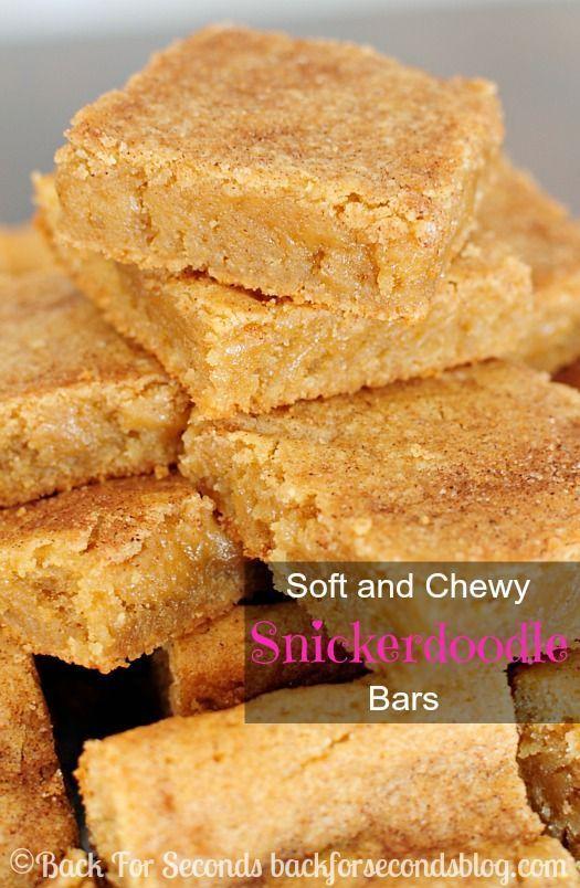Die BESTEN Soft und Chewy Snickerdoodle Bars! Das sind einfach perfekt! #blondies #s