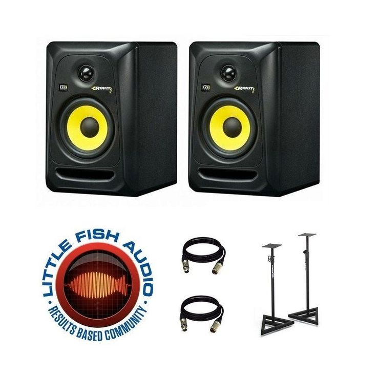 KRK ROKIT 5 RP5G3 ACTIVE STUDIO MONITOR PAIR + Cables & Stands + Free Shipping!