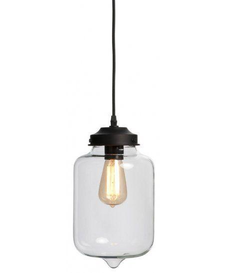 Industrialna szklana lampa wisząca Minsk